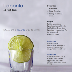 Laconic Word Poster Design